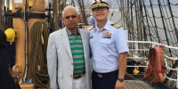 September 19, 2016 | On board the USCG Eagle as the guests of the Sector Commander | The vessel sailed from Annapolis Anchorage to Outer Harbor Baltimore.